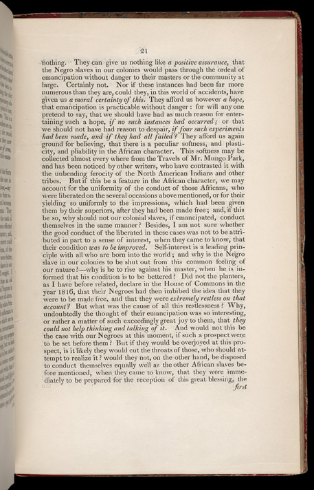 Improving The Condition Of The Slaves In The British Colonies -Page 21